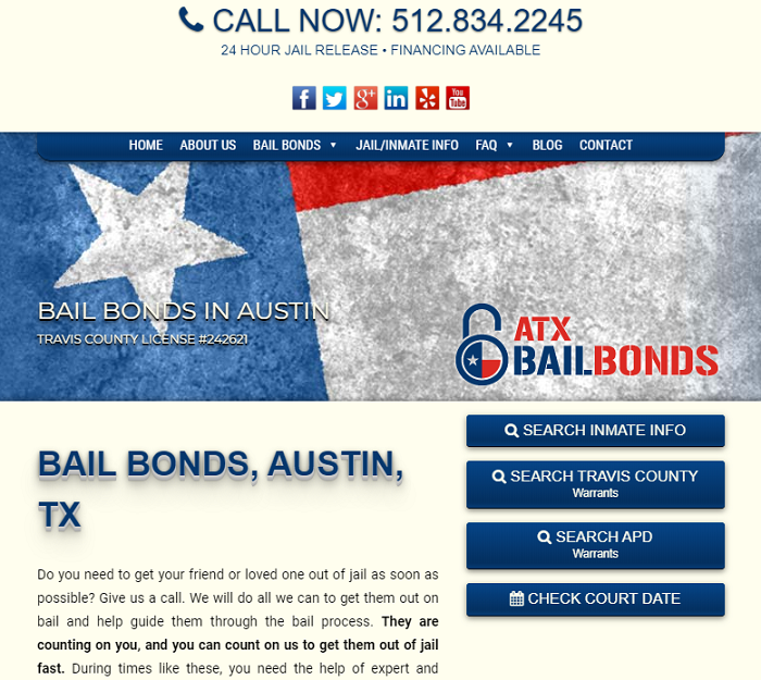 ATX Bail Bonds Homepage