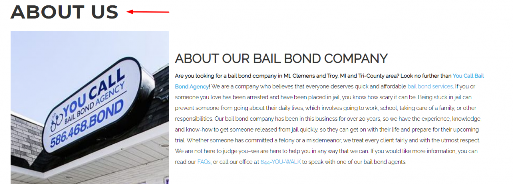 Bail Brand Page