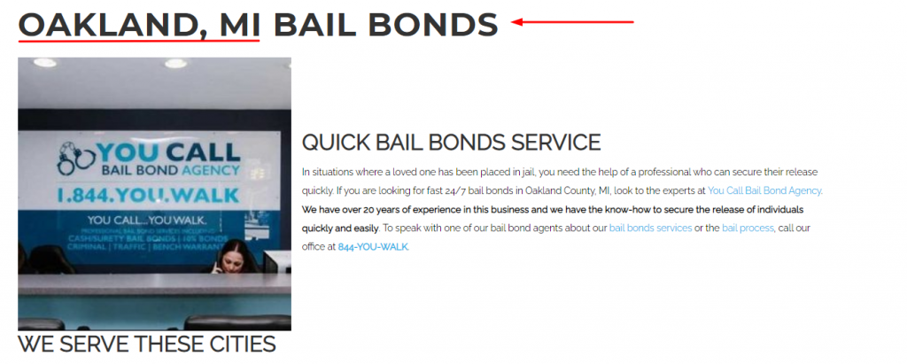 Bail Company Location Page