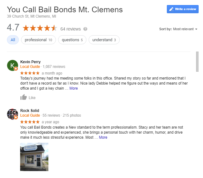 Bail Company Reputation and Reviews