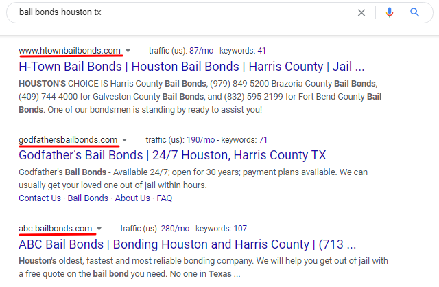 Bail Domain Names Screenshot