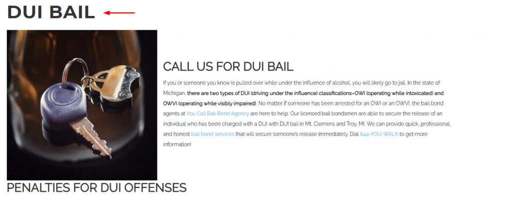 Bail Service Page