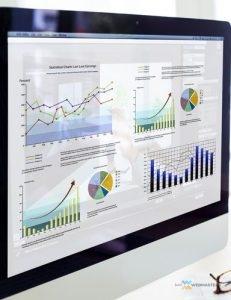 Computer Monitor Showing Bail SEO Analytics