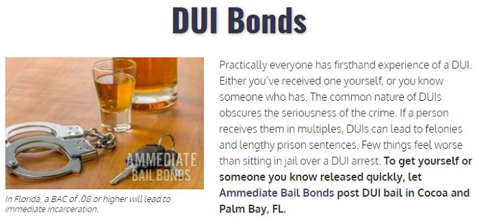 DUI Bail Service Page